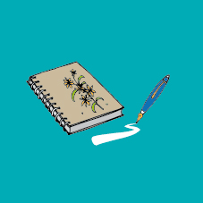 notebook pen graphic