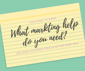 What marketing help do you need?