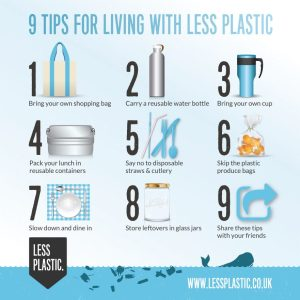 poster living with less plastic